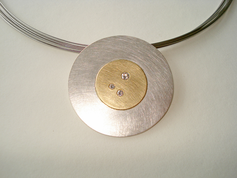 Anhänger Silber, Gold, Brillanten2