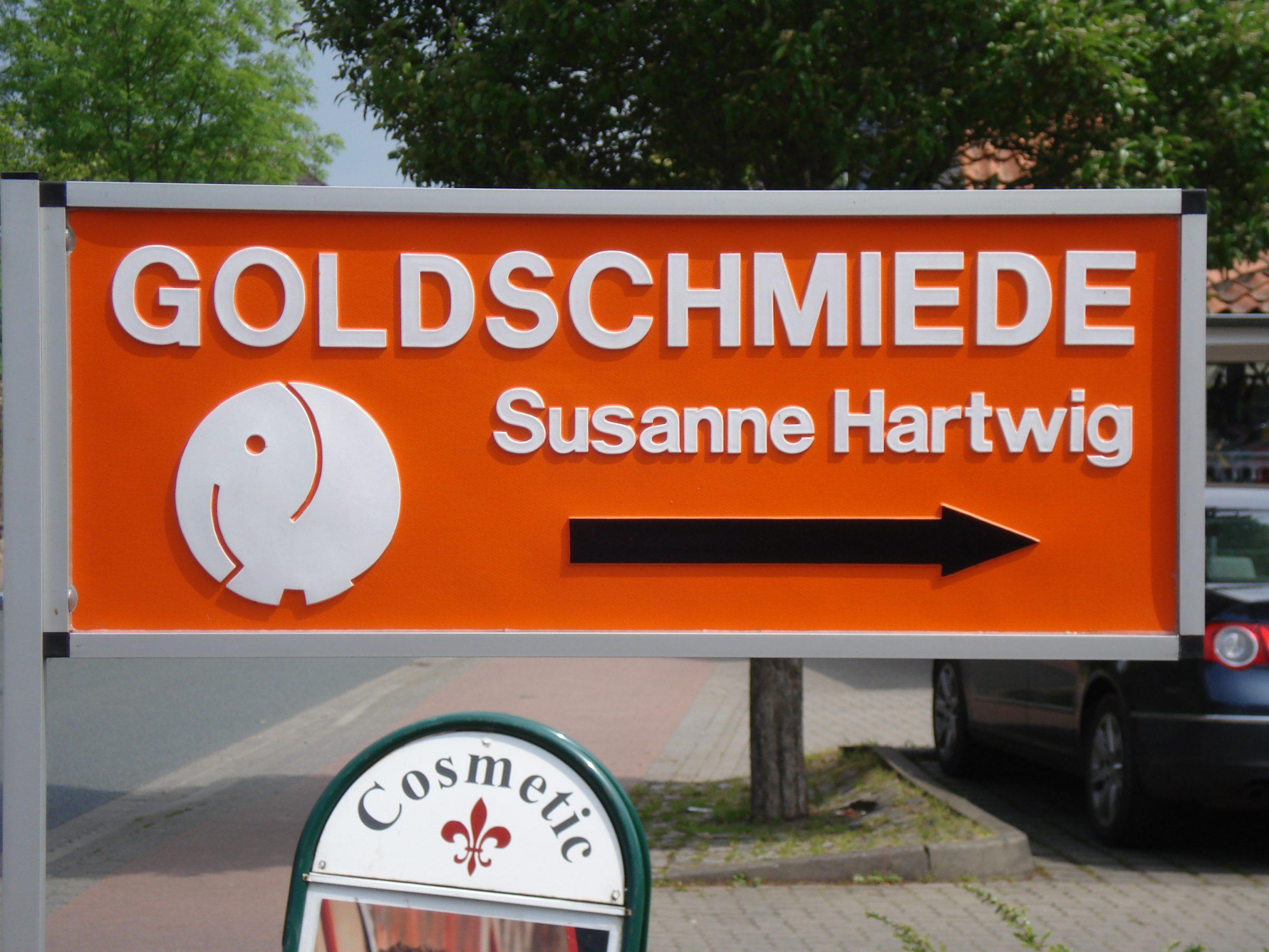 Wegweiser Goldschmiede Susanne Hartwig