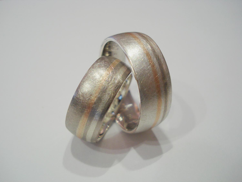 Trauringe Weißgold, Silber, Rotgold_2